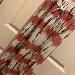 Loveappella Dresses - Loveapella Tie-Dye Maxi Dress